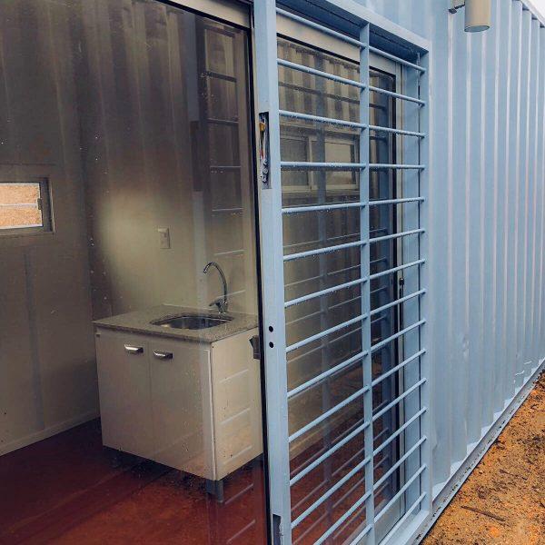 Contenedor Casa Exterior - Contenedor 40 / 2 Dormitorios